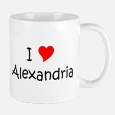 Cute I heart alexandria Mug
