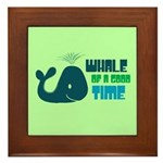 Whale of a Good Time Framed Tile