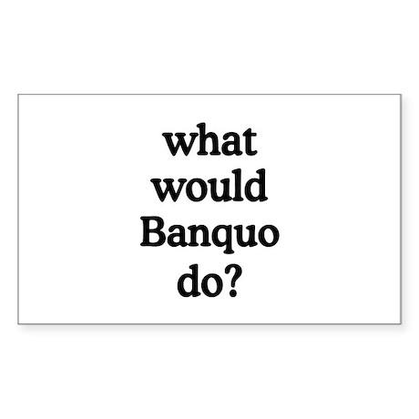 Banquo Rectangle Sticker
