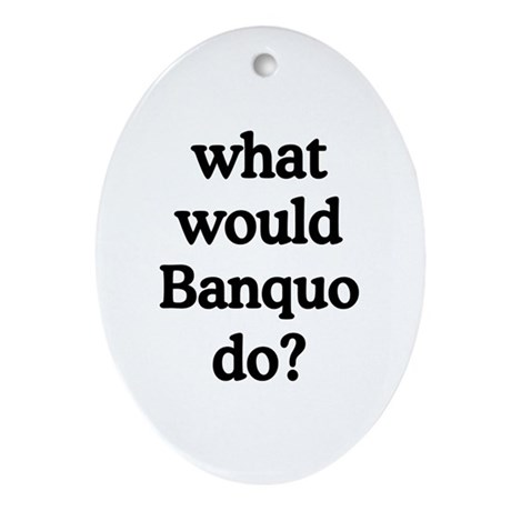 Banquo Oval Ornament