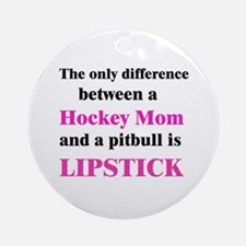 Palin Hockey Mom Pitbull Lipstick Ornament (Round)