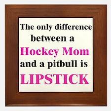 Palin Hockey Mom Pitbull Lipstick Framed Tile