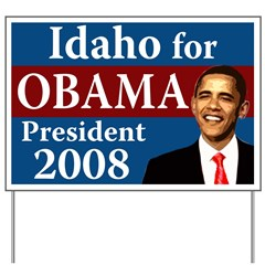 Idaho for Obama lawn sign