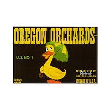 Oregon Orchards Label Rectangle Magnet