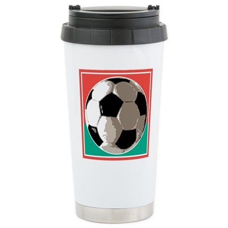 Italian Soccer Ball Design Stainless Steel Travel