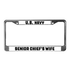 Cute Navy wife License Plate Frame