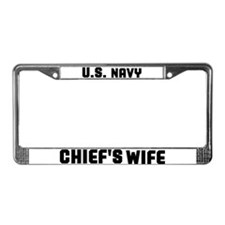 Funny Navy wife License Plate Frame