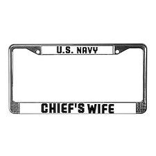 Cute Navy License Plate Frame