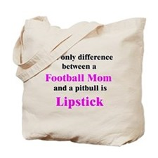 Football Mom Pitbull Lipstick Tote Bag