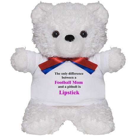 Football Mom Pitbull Lipstick Teddy Bear
