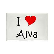 Cool Alva Rectangle Magnet