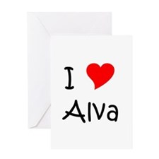 Cool Alva's Greeting Card