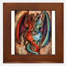 dragon love Framed Tile