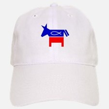 Christian Fish Democratic Donkey Baseball Baseball Cap