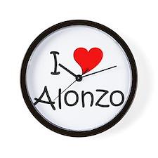 Cute I love alonzo Wall Clock