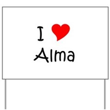 Alma Yard Sign