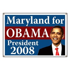 Maryland for Obama campaign banner