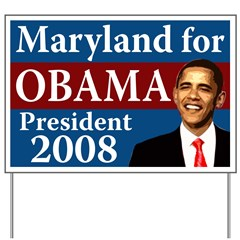 Maryland for Obama yard sign