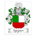 Ingegneri Family Crest Small Poster