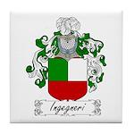Ingegneri Family Crest Tile Coaster