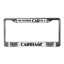 Carriage Driver License Plate Frame