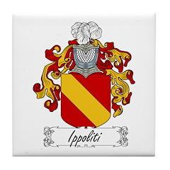 Ippoliti Family Crest Tile Coaster