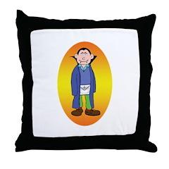 The Happy Mason Vampire Throw Pillow