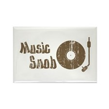 Music Snob Rectangle Magnet