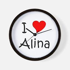 Cute Alina Wall Clock