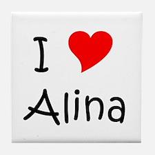 Funny Alina Tile Coaster