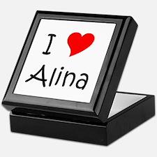 Cute I love alina Keepsake Box