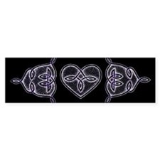 Purple Celtic Love Knots Bumper Bumper Sticker