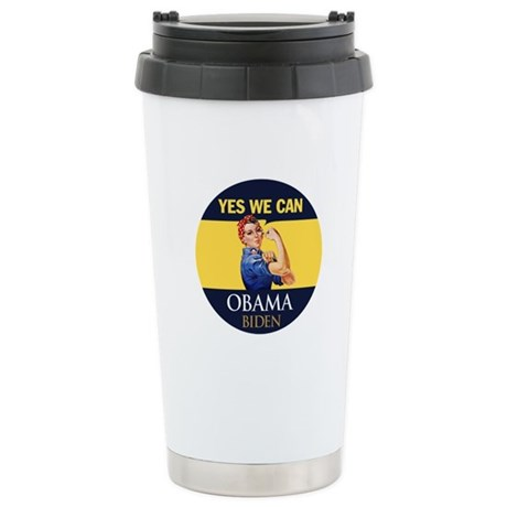 Obama Yes Rosie the Riveter Stainless Steel Travel