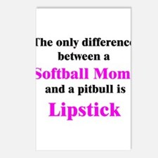Softball Mom Pitbull Lipstick Postcards (Package o