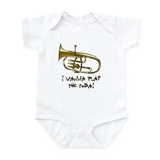Wanna Play Tuba Infant Bodysuit