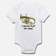 Wanna Play Tuba Infant Bodysuit