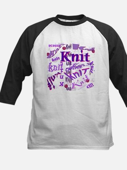 Knit Purple Kids Baseball Jersey