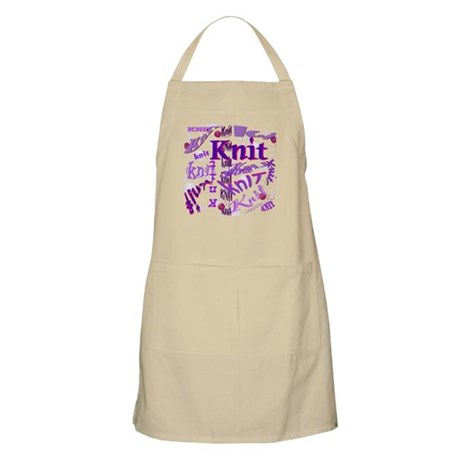 Knit Purple BBQ Apron