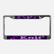 Knit Purple License Plate Frame