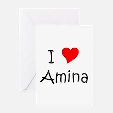 Funny Amina Greeting Card