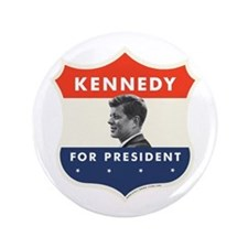 "John F. Kennedy Shield 53 3.5"" Button"