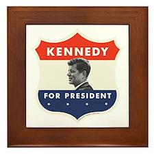 John F. Kennedy Shield 53 Framed Tile