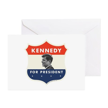 John F. Kennedy Shield 53 Greeting Cards (Pk of 10