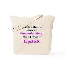 Gymnastics Mom Pitbull Lipstick Tote Bag
