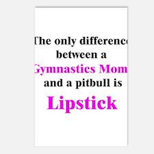 Gymnastics Mom Pitbull Lipstick Postcards (Package