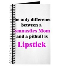 Gymnastics Mom Pitbull Lipstick Journal