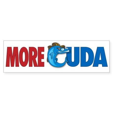 More Cuda Bumper Sticker