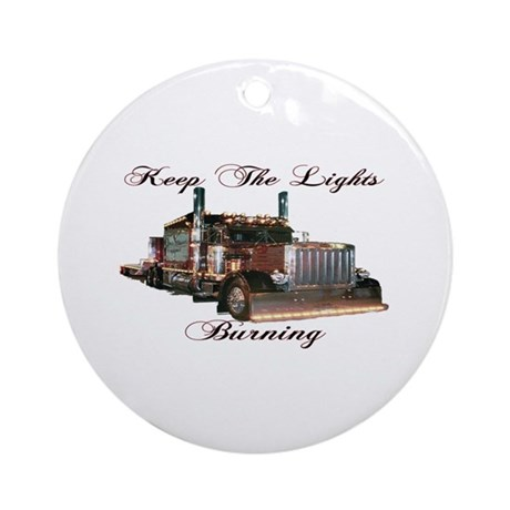 Keep The Lights Burning Ornament (Round)