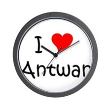 Cute I heart antwan Wall Clock