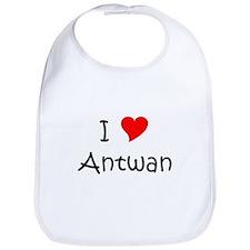 Cute I heart antwan Bib